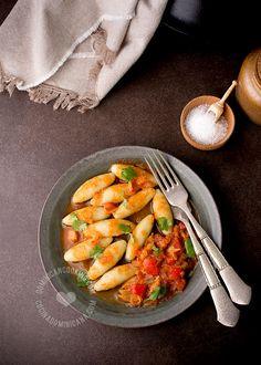 Receta Domplines de Batata: Inspirada en los domplines tradicionales, estos son más suaves y con un discreto toque dulce. Va muy bien con sabores fuertes.