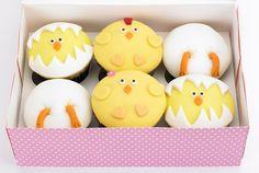 Easter cupcakes, easter cupcake topper, easter cake, fondant chicken, fondant…