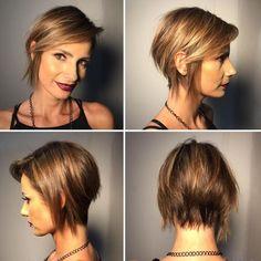 Edgy Bob Hairstyles, Funky Haircuts, Edgy Short Haircuts, Cute Hairstyles For Medium Hair, Medium Hair Cuts, Short Hair Cuts For Women, Short Cuts, Short Hair Trends, Short Hair Styles