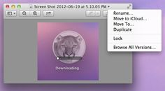 Duplicate, Move, And Rename Files Right In The Title Bar With Mountain Lion [OS X Tips] pinned by Noah