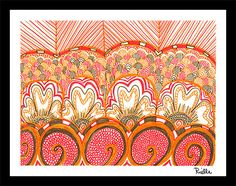 "Greeting Art Card w/envelope, ""Pretty in Peach,"" by Rielle 5 1/2"" x 4 1/4"" on Etsy, $4.99"