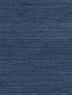 allen roth Navy Blue Grasscloth Unpasted Textured