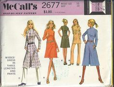 1970s McCall's 2677 Misses MOD Dress and by DawnsDesignBoutique, $16.99