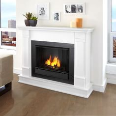 Electric fireplace made to look built in for the master bedroom.