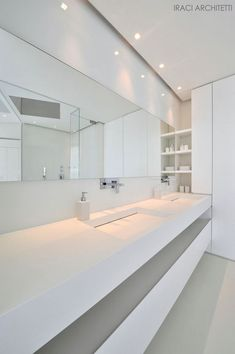 All white bathroom by Antonio Lupi _