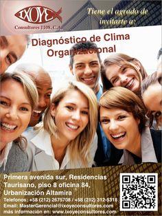 @IxoyeConsultore #organización #diagnóstico TALLER DIAGNÓSTICO DE CLIMA ORGANIZACIONAL * 16 de agosto del 2016 * Altamira Sur, Caracas IXOYE CONSULTORES 1108, C.A. * e-mail: Mastergerencial@isoyeco…