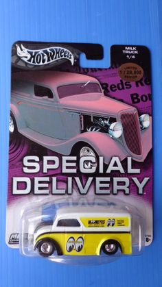 Hot Wheels Special Delivery Milk Truck Moon Eyes Real Riders Hot  & Very Rare !! #HotWheels