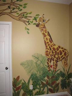 Giraffe in Jungle Room