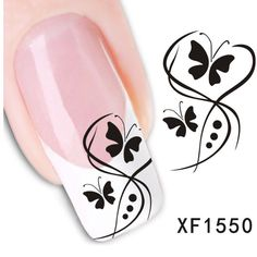 1/2 butterfly nail design - Google Search