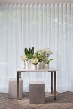 For understated elegance and style, it's impossible to beat sheer curtains. These window dressings give a breezy, flowing look and feel to rooms. Modern Curtains, White Curtains, Curtains With Blinds, Sheer Curtains Bedroom, Vintage Curtains, Window Curtains, Curtain Designs, Curtain Ideas, Drapery Ideas