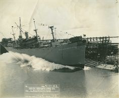 greatestgeneration:  Seventy years ago today, on 1 September 1943, the SS William Pendleton was launched by Delta Shipbuilding Co. in New Orleans. Delta would launch a total of 187 Liberty ships (out of 2,710 produced overall) during the war. (Photo: The National WWII Museum, Gift of Earl and Elaine Buras)
