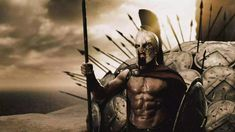 The Spartans were known for their brute strength and militant culture. Use our version of the 300 workout for to unleash your inner warrior. Spartan Body, Spartan 300, Spartan Shield, Spartan Warrior, 300 Movie, 300 Workout, Legendary Pictures, Warriors Wallpaper, Wall Prints