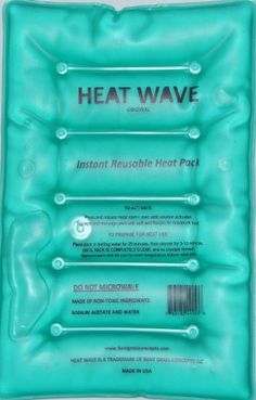 HEAT WAVE Instant Reusable Heat Pack - LARGE (8 x 12 inches). Instant heat and reusable. Reusable 500 times and more. We tested Heat Wave Instant Reusable Heat packs and stopped counting at 500! Lasts several hours under clothing or fabric. They get tossed in a landfill, with iron metal shavings making their way into the ground water. Simply flex the metal disc activator inside the pack, and start the heating process. Just snap heat and use for proheat hotshotz of heat.