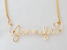 Name necklace Personalized bridesmaid sister by GLITTERBOXJEWELRY