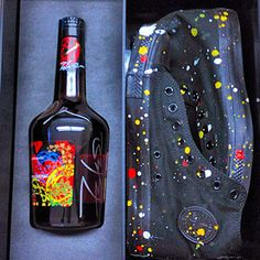 Futura x Hennessy Very Special Cognac Limited Edition Bottle - Friends & Family Pack Hennessy Very Special Cognac, Hennessy Vs, Beverage Packaging, Converse Chuck Taylor All Star, Friends Family, Liquor, Alcohol, My Love, Bottle