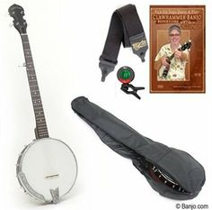 Gold Tone Cripple Creek 50 5-String Banjo with Starter Pack by Gold Tone. $328.00. The CC-50 with starter pack makes a great gift for the wannabe clawhammer-style banjo player in your life! The CC-50: a great entry-level banjo from Gold Tone! For an economy 5 string, the CC-50 outshines the competition. Our 12 point set up ensures accurate intonation, easy fingering, and good tone. Note: Our banjos are individually inspected, set up and tuned by the Banjo.com staff in Ge...