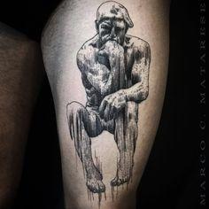 Black tattoo design Marco C. Matarese Milan
