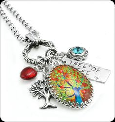 Silver Tree of Life Necklace  Tree of Life by BlackberryDesigns