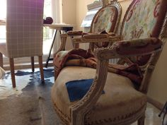 Chairs heading for a new life- upholstry