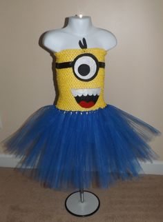 Despicable Me minion inspired tutu costume by BrandiKsBoutique, $30.00