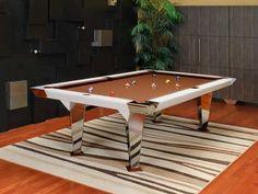 White Modern Pool Tables Steel
