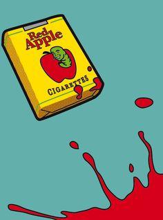"""Cigarros Red Apple – a marca de cigarro criado por Tarantino, pode ser visto nos filmes """"Bastardos Inglórios"""", """"Cães de Aluguel"""", """"Grande Hotel"""", """"Planeta Terror"""", """"Um Drink No Inferno"""", """"Pulp Fiction - Tempo de Violência"""", """"Kill Bill: Volume 1"""" e """"Kill Bill: Volume 2""""."""