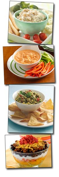 It's hip to chip... and dip... with these guilt-free options! #chips #dips #snacks