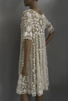 Irish crochet lace coat or dress, c.1920s by Yasmine 67