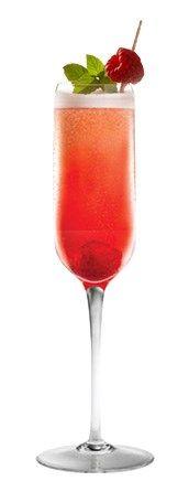 Vie Moussant En una coctelera agregue 4 frambuesas y una cucharada de azúcar. Machaque hasta sacar al máximo el jugo de la fruta. Luego agregue 1½oz de vodka y hielo. Agite durante varios segundos y vierta con un colador de malla en una copa tipo flauta con una frambuesa en el fondo. Finalice añadiendo Champaña bien fría.  Mira la receta original en: http://tutrago.com/Trago-Vie-Moussant Copyright © TuTrago.com