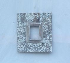 4x6 picture frame . White and natural colors.Hand painted lace pattern  Rustic elegance. Gift,home decor,holiday.birthday,distressed.fu on Etsy, $44.00