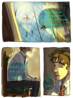 """Remus Lupin and McGonagall part 1 - Remus going in for career advice with McGonagall and not even getting his hopes up and just being like """"I know nobody will hire me, it's fine."""" but feeling so upset about it"""