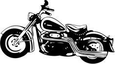 Free Harley Davidson Clip Art of Harley davidson on harley davidson logo road glide clipart image for your personal projects, presentations or web designs. White Motorcycle, Motorcycle Art, Motorcycle Design, Wood Painting Art, Stencil Painting, Stenciling, Motorcycle Clipart, Motos Harley Davidson, Clipart Black And White