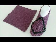- Knitting patterns, knitting designs, knitting for beginners. Crochet Slipper Boots, Knit Baby Shoes, Crochet Baby Boots, Knit Baby Booties, Knitted Slippers, Knitting Designs, Knitting Patterns, Tunisian Crochet, Flip Flops