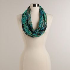 One of my favorite discoveries at WorldMarket.com: Turquoise and Green Tonal Mosaic Infinity Scarf
