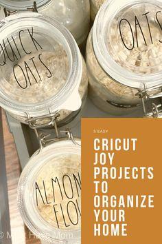 5 Quick and Easy Cricut Joy Projects To Organize Your Home! #cricutcreated #cricutjoy