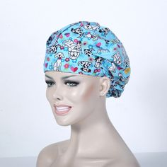 Accessories Just Hennar Women Print Surgical Caps Masks 100% Cotton Purple Hospital Surgical Caps Dental Clinic Beauty Salon Workwear Caps Bracing Up The Whole System And Strengthening It Medical