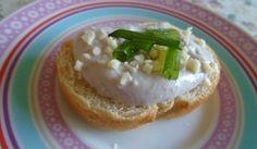 Pasta básica de ricota para canapés   Sopa de Bruxa