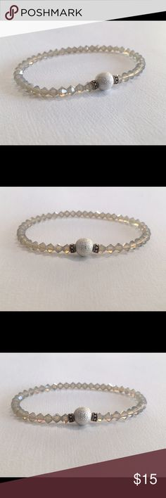 ✨Crystal Stretch Bracelet Swarovski™ Components✨ Swarovski Crystal Stretch bracelet.  Grey Opal Fits average size wrist.  Safe to bath, swim and wear 24/7!  Bundle stack with our other fabulous colors!!! Jewelry Bracelets
