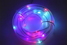 12 Volt Rope Lights Julyfire Blue 33 Ft Length 100 Led Solar Outdoor Christmas Rope