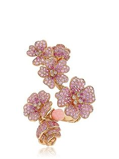 Cherry Blossoms Collection Pink Sapphire, Opal and Diamond Ring