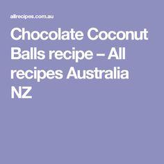 Chocolate Coconut Balls recipe – All recipes Australia NZ