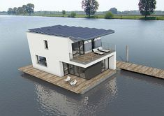 Being ten times more efficient than homes of similar size, the AutarkHome, a houseboat docked at the Maastricht, Netherlands, could be what earth loving residents and eco-wanderers always dream about. Designed by Pieter Kromwikj to meet Passivhaus standards, the sustainable house is powered by a solar array that spans the roof.