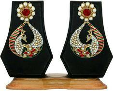 Peacock ear rings