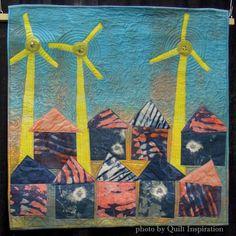 Wind to Enlighten by Barbara Eisenstein.  2015 World Quilt Show.  Photo by Quilt Inspiration.