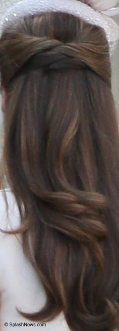 A closer look at Kate's elegant hairstyle.