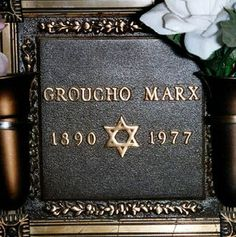 Groucho Marx, Comedian, (Marx Brothers). Marx was cremated and the ashes were interred in the Eden Memorial Park Cemetery in Los Angeles. Groucho had the longest lifespan of all the Marx Brothers.