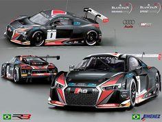Blancpain GT Series: Baptista e Jimenez testam Audi R8 LMS em França