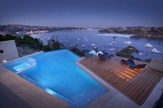 Spectacular riverside residence with stunning panoramic views of the Swan River in Perth Australia landscaped by Ritz Exterior Design
