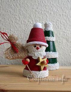 Christmas clay flower pot crafts - MMR Home Christmas Crafts For Adults, Christmas Craft Projects, Christmas Clay, Holiday Crafts, Christmas Gifts, Christmas Decorations, Christmas Ornaments, Christmas Tree, Christmas Craft Show