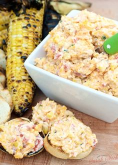 Pimento Cheese Spread with roasted corn recipe will be a summer favorite. The smoky grilled corn still pops a crunchy sweetness in your mouth in this creamy, cheesy spread.Everyone will be asking for your Pimento Cheese Spread recipe!